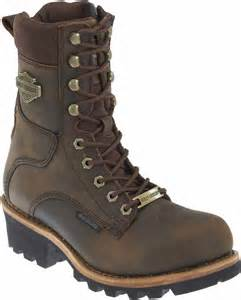 style motorcycle boots harley davidson men 39 s tyson 7 5 inch brown logger style