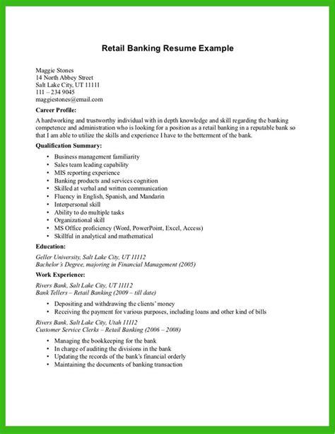 Banking Resume Exles by Pin Oleh Jobresume Di Resume Career Termplate Free