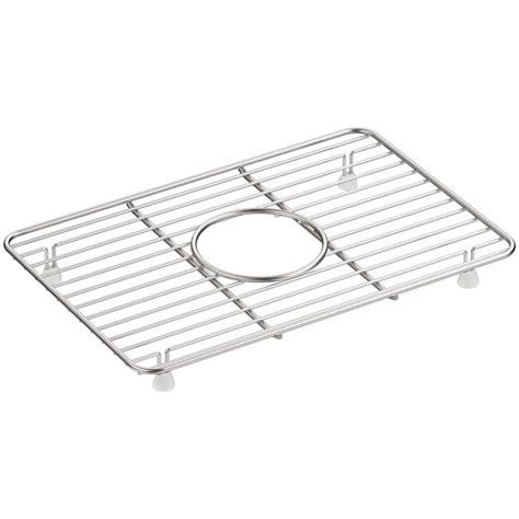 kohler whitehaven bottom bowl sink basin rack in stainless
