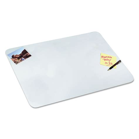clear desk pad clear desk pad by artistic 174 aop7080 ontimesupplies