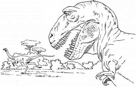 Kleurplaat Ark Survival by T Rex Is Going Coloring Page Color