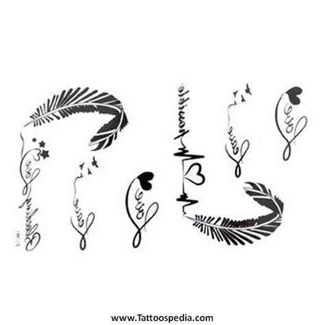 Feather Tattoo Lettering 4