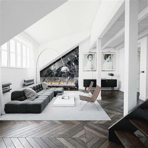 black  white living room designs  trendy