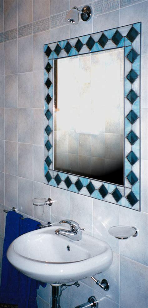 Specchio In Tiffany Ispirato Al Rivestimento Bagno