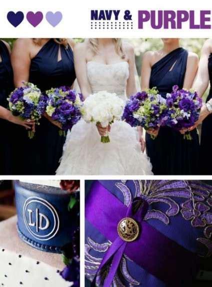 59 trendy wedding cakes navy and coral purple Purple