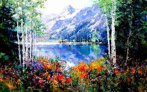 Résultat d'images pour paysage de printemps