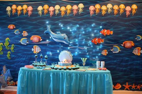 Under The Sea Party Decorations 10 By Kitchen Hand Painted Tiles For Food Network Test Lighting Plan Western Towels Track Light Brick In Cabinets Long Island Ny