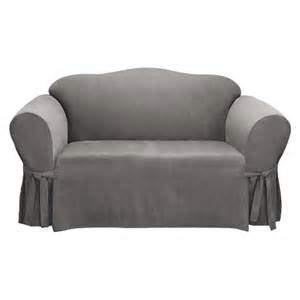sure fit soft suede loveseat slipcover target