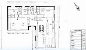 photo quotplan de maison en l 3 chambres 1 bureauquot maison With idee de plan de maison 1 plans construction de notre maison en ossature bois