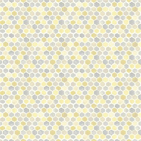 honeycomb yellow geometric wallpaper departments diy