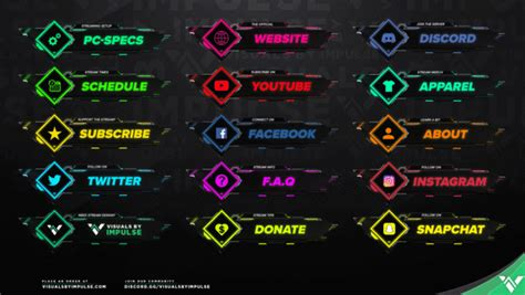 nanotech twitch panels visuals  impulse