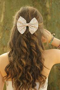 FLoral Hair bow for Sweet and Cool Hairstyles for GIrl Latest Hair Styles Cute & Modern