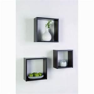 étagère Murale Porte Cadre : lot de 3 tag res cube 12 mm b ne etag re tablette ~ Premium-room.com Idées de Décoration