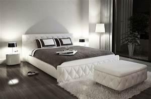 Lit 180x200 Blanc : lit en cuir italien de luxe farniente 180x200 blanc mobilier priv ~ Teatrodelosmanantiales.com Idées de Décoration