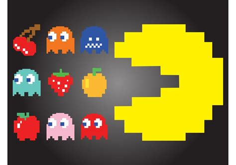 Pacman Images Pac Characters Free Vector Stock