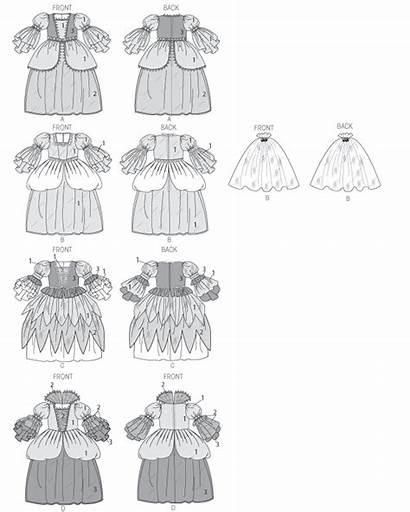 Costumes Princess Pattern Sewing Patterns