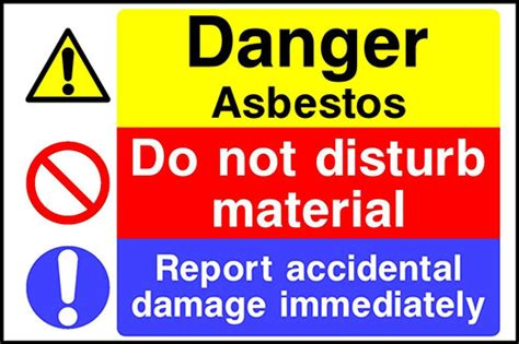 asbestos warning signs  safety maintenance company
