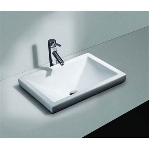 semi recessed bathroom sink vitreous china semi recessed sink cantrio koncepts drop in