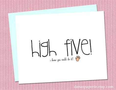 congratulations card awesome congratulations card high five card work promotion