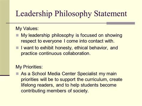 leadership philosophy template leadership philosophy ppt