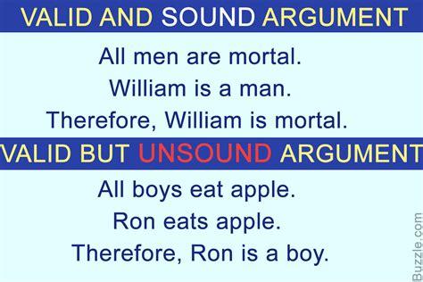 examples argument valid sound logic deductive reasoning arguments