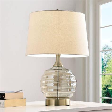 crystal clear base table lamp