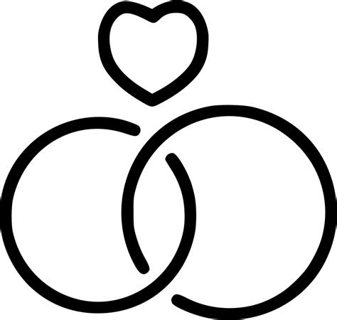 wedding rings love heart svg png icon free download