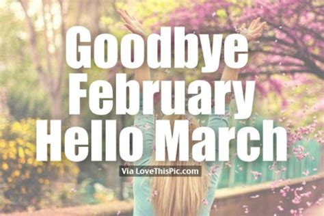 goodbye february  march quotes