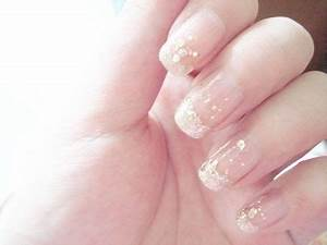 French manicure with silver glitter ♡ | Nail Art ♥ | Pinterest