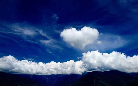 cloud free s day shaped cloud wallpapers for