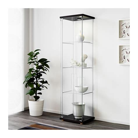 Detolf Glass Door Cabinet Malaysia by Detolf Glass Door Cabinet Black Brown 43x163 Cm Ikea