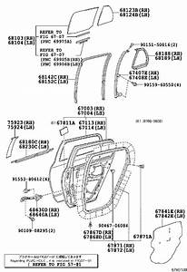 Toyota Yaris Door Seal  Left  Rear   Body  Interior  Panel