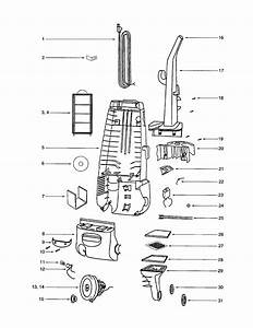 Eureka Model 4496av Vacuum  Upright Genuine Parts