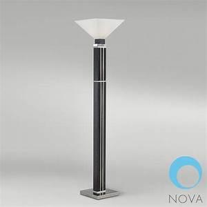 Attitude torchiere lamp nova modern floor lamps for Modern torch floor lamp