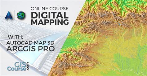digital mapping  arcgis   autocad map
