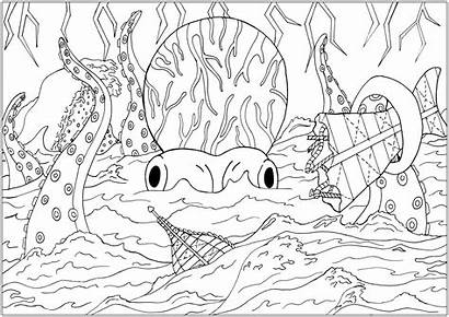 Coloring Sea Under Leagues Water Jules Pages