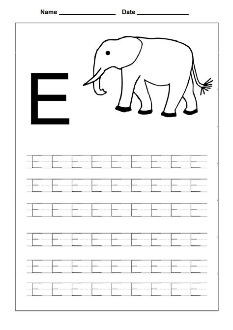 free uppercase letter e coloring pages diya alphabet