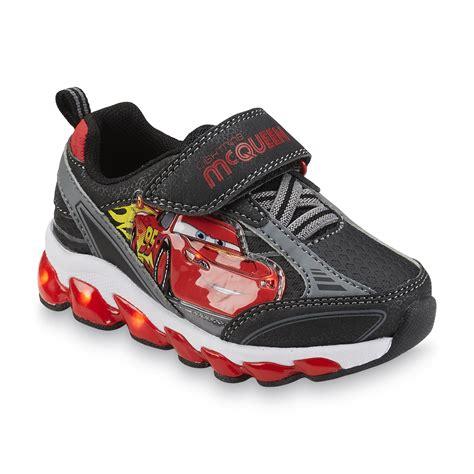 disney boy s cars black red gray light up shoes