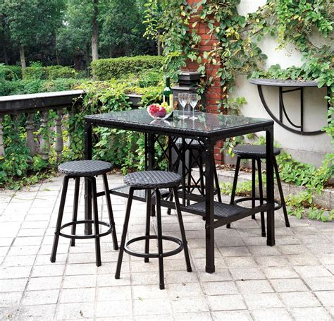 bar height patio dining set 5 pc patio counter height dining set
