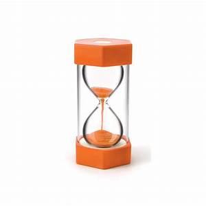 Sablier 30 Minutes : sablier g ant de 10 minutes hauteur 30 cm orange pour jeux ~ Teatrodelosmanantiales.com Idées de Décoration