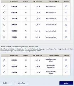 Restschuldversicherung Berechnen : postbank kredit infos zu konditionen laufzeit und service ~ Themetempest.com Abrechnung