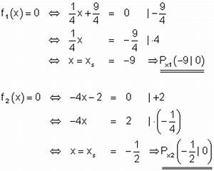 Schnittpunkt Mit X Achse Berechnen : l sungen lineare funktionen teil xi ~ Themetempest.com Abrechnung