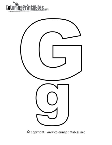 Coloring Letter G by Alphabet Letter G Coloring Page A Free Coloring