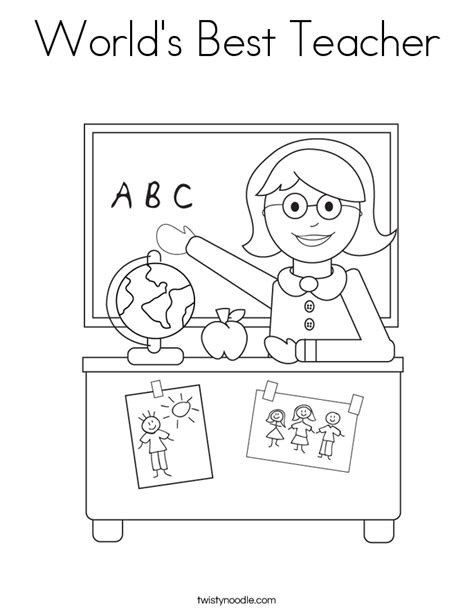 Coloring Pages Of Teachers - Eskayalitim