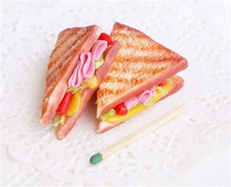 cuisine miniature grilled sandwich miniature toast collectible doll food