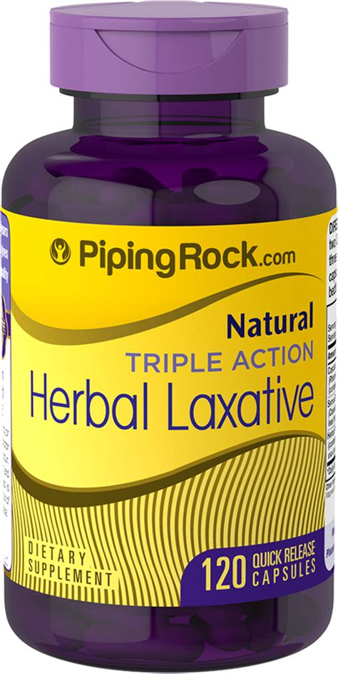 Herbal Laxative Triple Action 120 Capsules | Benefits ...