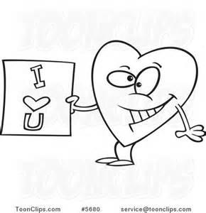 Cartoon I Love You Heart Drawings