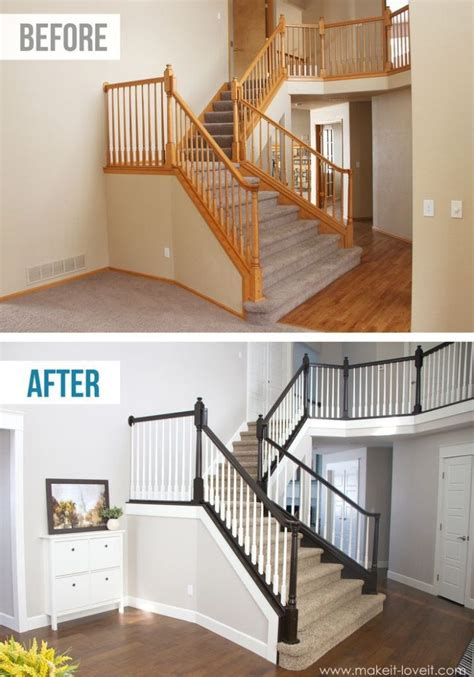 Banister Ideas by Diy Stair Railing Projects Makeovers Decorating Your