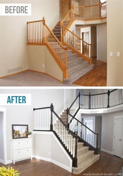 DIY Stair Railing Projects & Makeovers   Decorating Your
