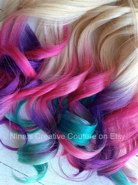 Tie Dye Ombre Hair Extensions Blonde From Ninas Creative
